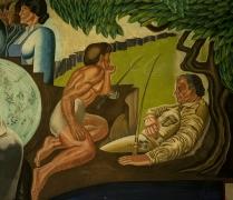 An example of Wilson's homo-eroticism, tame enough to be in a public school. photo: Sasha-K