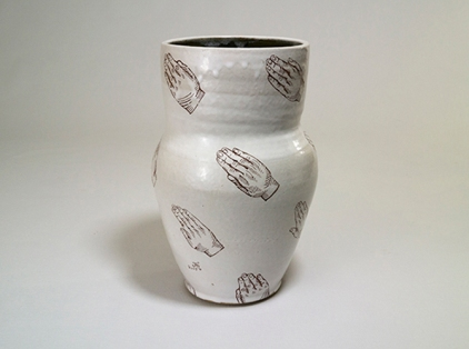 Affirming Vote: 86% Approval Rating (Feb. 26, 2015). 2015 stoneware decorated with decals, oxidation, $150